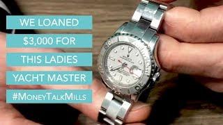 We Loaned $3,000 on this Ladies Rolex Yacht Master