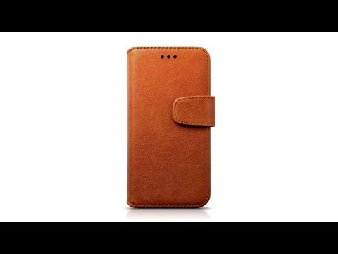 Samsung Galaxy A3 2017 Portemonnaie-Hülle aus PU-Leder Farbe: Hellbraun