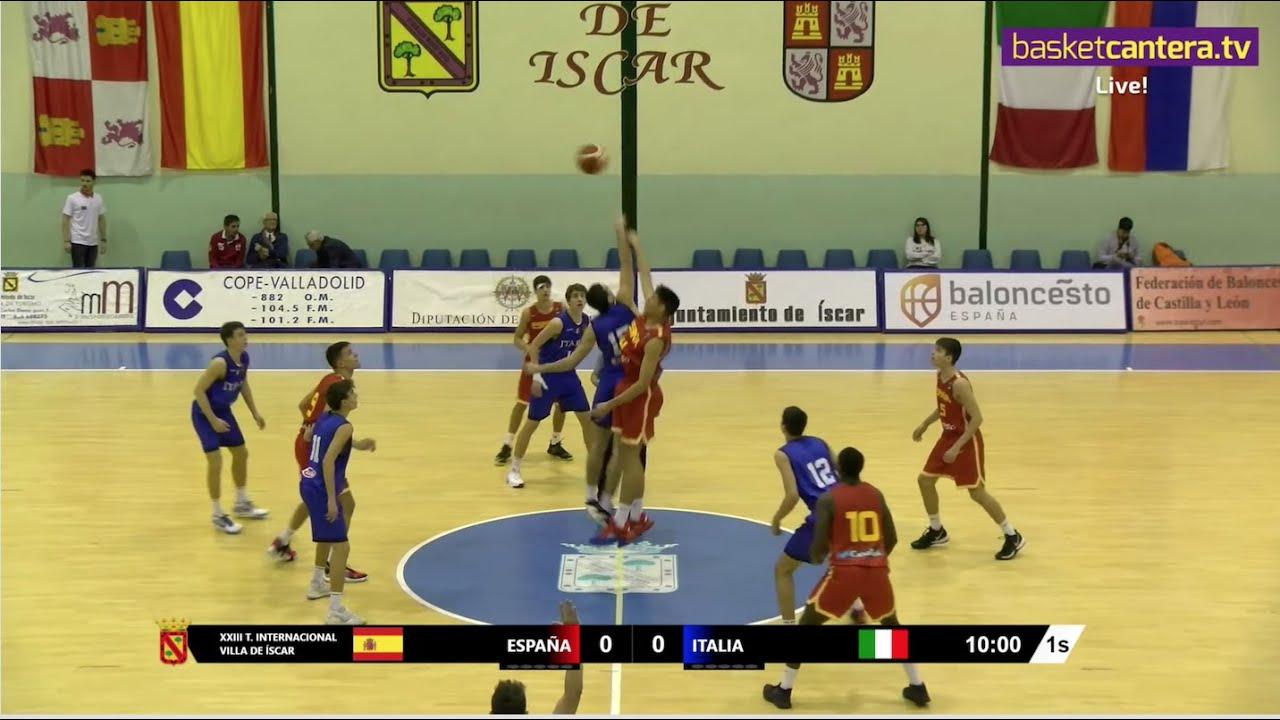 DIRECTO - U16M - ESPAÑA vs ITALIA - Torneo Internacional Cadete de Íscar 2019 (BasketCantera.TV)
