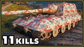 Jagdpanzer E-100 - 11 Kills - World of Tanks Gameplay