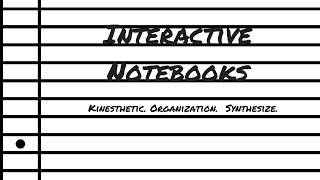 Interactive Notebooks In Your Middle Grades ELA Classroom