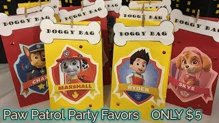 DIY Paw Patrol Party Favor Gift Bags | $5 DIY | FREE Templates Included