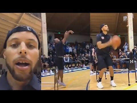Stephen Curry Challenges His Dad (Dell Curry) to a 3 Point Contest Then Gets Schooled!