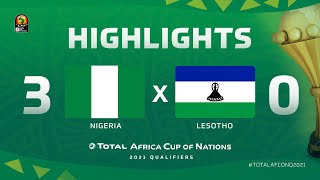 Qualif. CAN 2021   Groupe L : Nigeria 3-0 Lesotho