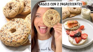 BAGELS ♥︎ 2 INGREDIENTES Y TIENES UN BAGEL SALUDABLE | No Compres Pan