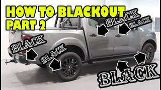 How To Blackout, Paint Over Chrome Part 2