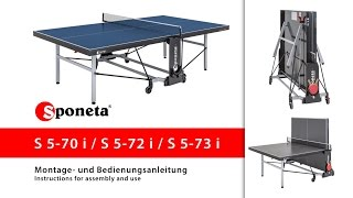 Sponeta S 5-70 / 72 / 73 i - Montageanleitung Tischtennistisch / Instructions for assembly and use