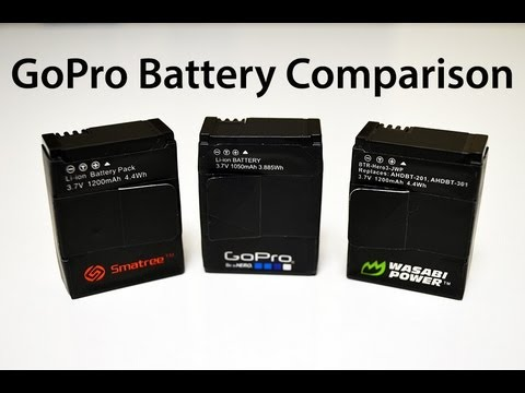 GoPro Hero3 Third Party Battery Comparison / Review