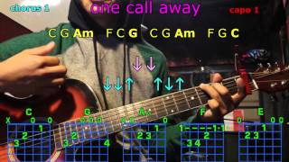 one call away charlie puth guitar chords
