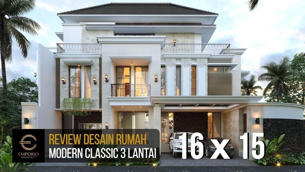 Video 3D Desain Rumah Modern Classic 3 Lantai Ibu Winda di Padang, Sumatera Barat