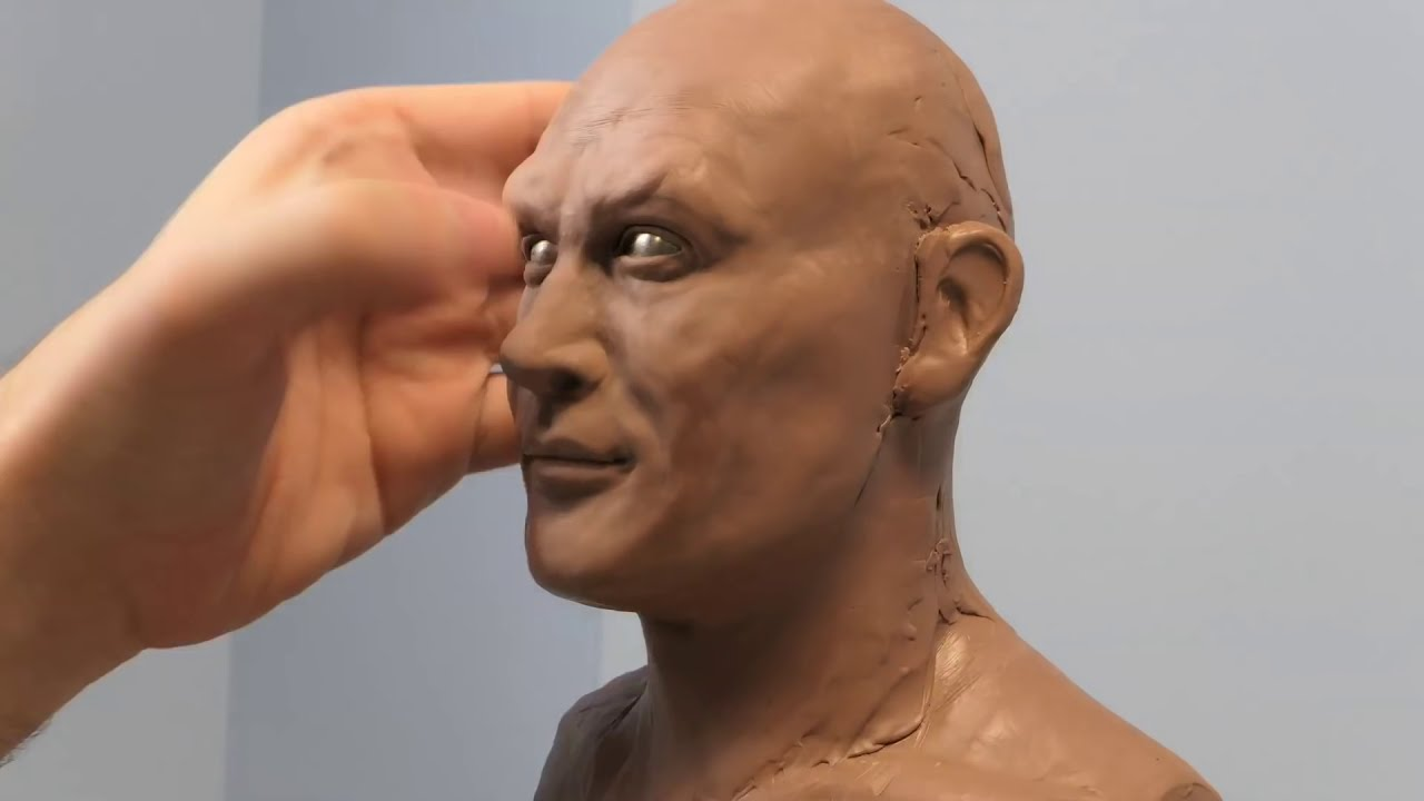 sculpture aquaman timelapse video by steven richter