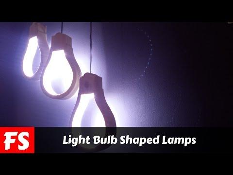 Holzlampe in Glühbirnenform - Holzkunst für deine Wohnräume