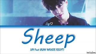 LAY X Alan Walker   Sheep (Alan Walker Relift) Lirik (Sub Indo) (Color Coded Lyrics)