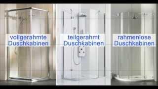Duschkabinen - das grosse Beratungsvideo