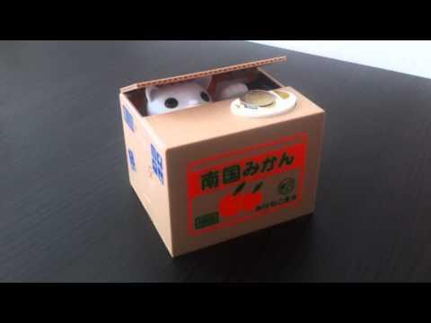 Mieschief Bank Cat Coinbox, lustige Katzen Spardose