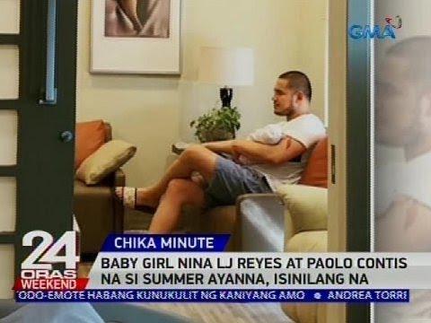 Baby girl nina LJ Reyes at Paolo Contis na si Summer Ayanna, isinilang na