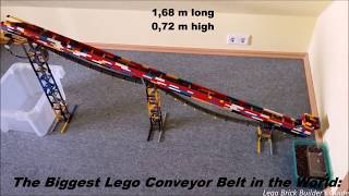 The Biggest Lego Conveyor Belt 1,68m Long - MOC