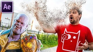 THANOS DISINTEGRATION – After Effects (NO PLUGINS)