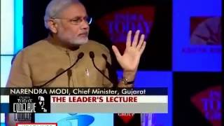 Modi Shares His NaMo Mantra At India Today Conclave 2013 Will It Work For India