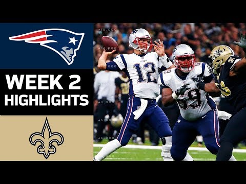 Patriots vs. Saints | NFL Week 2 Game Highlights
