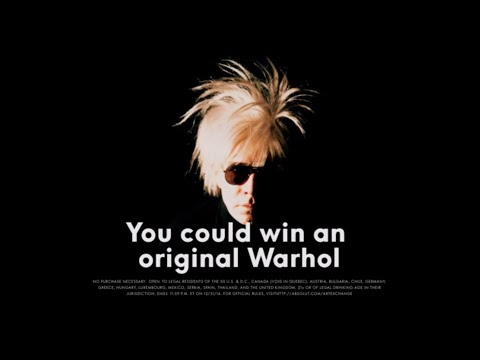 Absolut, and The Andy Warhol Art Exchange Commercial (2014 - 2015) (Television Commercial)