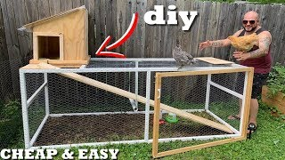 DIY CHICKEN COOP And RUN (Cheap & Easy)