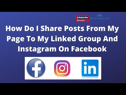 How Do I Share Posts From My Page To My Linked Group And Instagram On Facebook