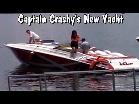 Super Bad A$$ Boat Captain Crashy docks expensive Yacht