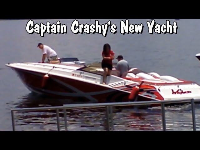 Super Bad A$$ Boat Captain Crashy docks expensive Yacht