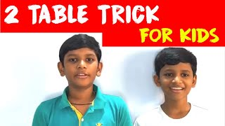 2 table trick for kids   learn 2 table easily   easy trick to learn 2 table   two table trick