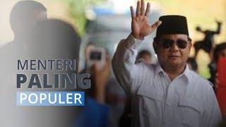 Survei Indo Barometer: Prabowo Subianto Menteri Paling Terkenal dan Miliki Kinerja Bagus
