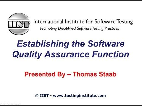 Software Testing Training - Establishing the Software ... - YouTube