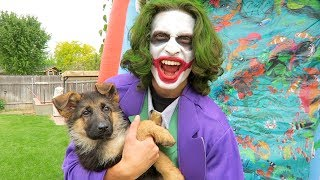 Funny Clown SAVES My Puppy Sniper!