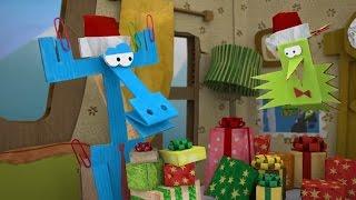 Бумажки. Новогодняя история. Серия 58. Мультик оригами. Творчество с детьми. Новогодние поделки.