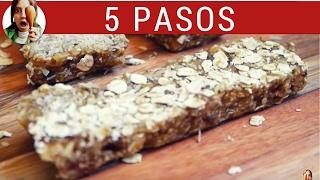 Barritas De Cereal Caseras MUY Fáciles: 2 Ingredientes, Sin Horno!!! - Paulina Cocina