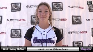2024 Kelsey McNair Athletic Pitcher, SS and Third Base Softball Skills Video - Ca Grapettes