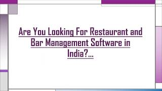 Buy Restaurant and Bar Management Software