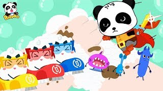 Super Panda and Soap Bubble Rangers | Kids Pretend Play | Kids Safety Tips | Kids Song | BabyBus