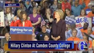 "Clinton Laughs As Person Introducing Her Takes ""Under God"" Out Of Pledge"