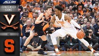 Virginia Vs. Syracuse Condensed Game | 2018-19 ACC Basketball