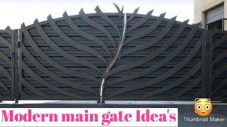 Modern Main Gates Ideas , Steel Gates , Iron Gates For Modern House , Modern Main Door Gate Ideas