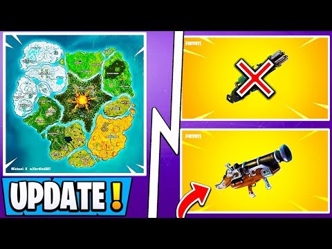 New Fortnite Update Season 8 Map Leaked Cannon Ball Weapon