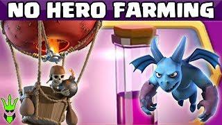 NO HERO DE LOONION FARMING - Balloon Zoom Event Battles! - Clash of Clans - TH9 Dark Elixir Farming