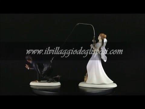 Video - La sposa pesca lo sposo (LEI bianca LUI di colore)