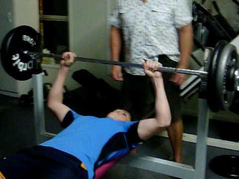 ben geppert. 95kg bench press