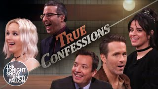 Tonight Show True Confessions with Jennifer Lawrence, John Oliver, Ryan Reynolds & Camila Cabello