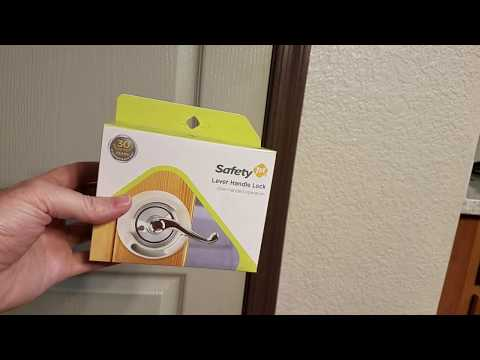 Review and installation of the Safety First Lever Handle Lock.