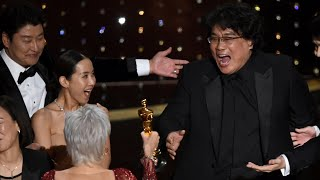 video: Oscars 2020: Parasite sweeps the board to shock and delight Hollywood