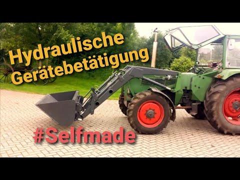 Frontlader umbau Hydraulische Gerätebetätigung nachrüsten eigenbau Fendt Farmer 108s