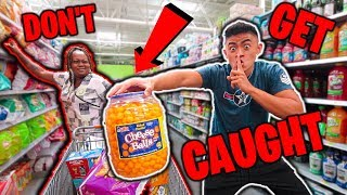 Sneaking Stuff OUT of People's CARTS!